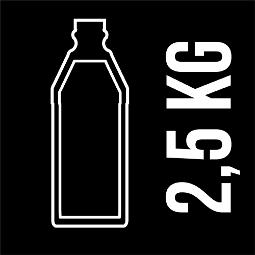 PET bottle 2,5 Kg